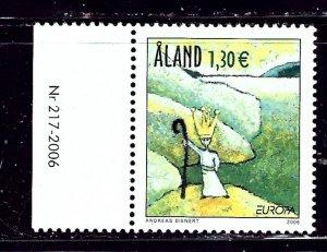 Finland-Aland 248 MNH 2006 Europa    (ap2025)