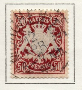 Bayern Bavaria 1890 Early Issue Fine Used 50pf. NW-120738