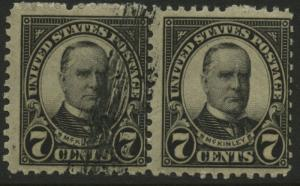 #639 PAIR, ONE OVERINKED BL3186