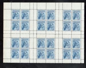 Australia #95a Mint Sheet Containing Six Panes Of Four Stamps