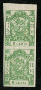 North Borneo SC# 42 Coat of Arms imperf pair 8c MH/MNH