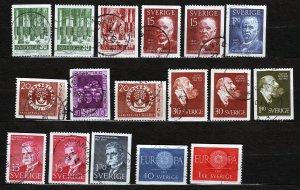 J23041 JLstamps 1959-60 sweden sets used #544-up designs