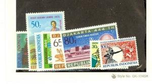 Indonesia Scott 797-802,804-805     [ID#432148]