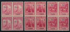Timor #RA1-3* NH Blocks of 4 CV $3.60
