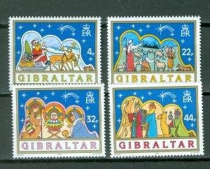GIBRALTAR CHRISTMAS #558-561...SET...MNH...$7.00