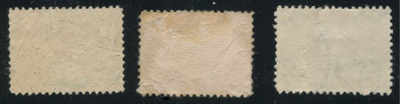 USA  Jamestown Expo 1907  #328 329 330 Pocahontas Captain Smith