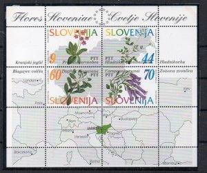 SLOVENIA - FLOWERS - 1994 - M/S -