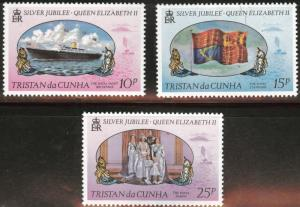 Tristan da Cunha MNH 213-5 QE II Silver Jubilee 1977