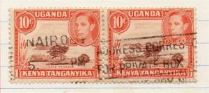 Kenya Uganda Tanganyika 1938 Early Issue Fine Used 10c. Pair 202649