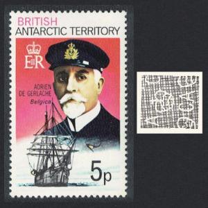 BAT Polar Explorer Adrien de Gerlache and 'Belgica' 1v 5p SG#51