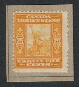 Canada (Revenue) van Dam FWS1, used on piece