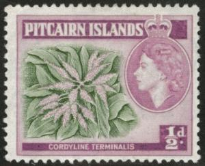 Pitcairn Islands Scott 20 MH* 1957 stamp CV$0.85