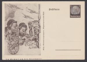Germany, Occupation of Lorraine, H&G I34 mint 1941 6pf Postal Card w/ ovpt