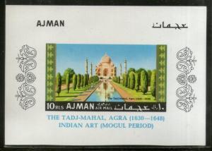 Ajman 1967 Taj Mahal of India Seven Wonders Tourism Imperf M/s MNH # 13548