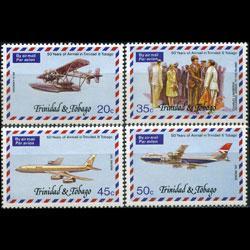 TRINIDAD & TOBACO 1977 - Scott# 268-71 Planes Set of 4 NH