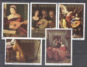 Chad 1972 Music instrument on paintings used AK.005
