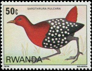 Rwanda 1980 Sc 945 Bird Flufftail