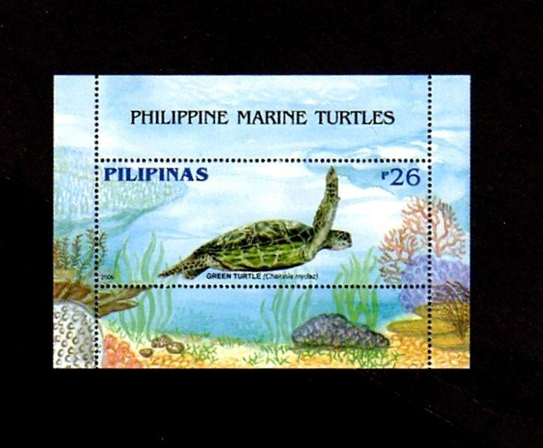 PHILIPPINES - 2006 - GREEN  TURTLE - MARINE LIFE - MINT - MNH S/SHEET!