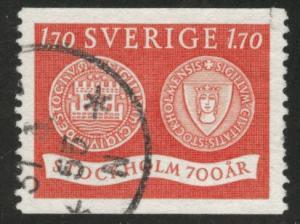 SWEDEN Scott 450 used 1953 stamp
