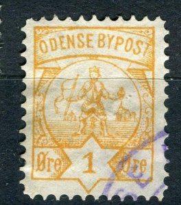 NORWAY; ODENSE 1860s-80s early classic By Post Local issue fine used
