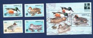 KIRIBATI - Scott 737-741 - FVF MNH - Birds, ducks - 1999