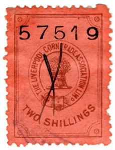 (I.B) Liverpool Corn Trade Association : Fee Stamp 2/-