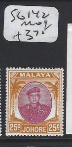 MALAYA JOHORE   (PP1605B)  SULTAN 25C   SG 142      MOG