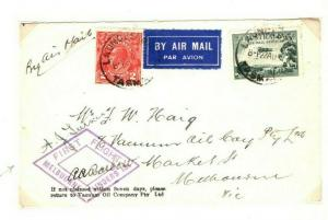 AUSTRALIA Air Mail Launceston Melbourne First Flight Pilot Signed 1933 PA6