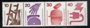 Germany Scott 1075,1076,1078-1079 MNH** Work Safety stamps