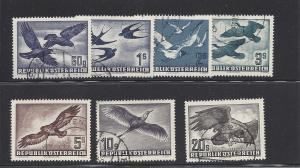 Austria, C54-C60, Various Birds Designs Singles, **Used** (LL2018)