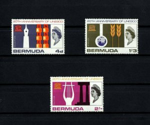 BERMUDA - 1966 - QE II - UNESCO - EDUCATION - SCIENCE - CULTURE - MINT MNH SET!
