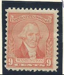 1932 United States Scott Catalog Number 714 Unused Hinged