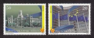 Macedonia Sc# 515-6 MNH European Union