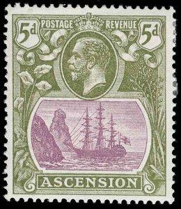 Ascension Scott 16 Variety 1 Gibbons 15da Mint Stamp