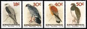 Bophuthatswana - 1989 Birds of Prey MNH** SG 223-226