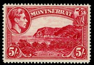 MONTSERRAT SG110a, 5s rose-carmine, LH MINT. Cat £30. PERF 14
