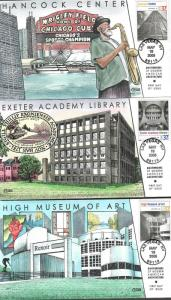 US Collins FDC SC#3910 A-L Masterworks Of Modern American Architecture