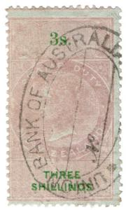 (I.B) New Zealand Revenue : Stamp Duty 3/- (unlisted colour)