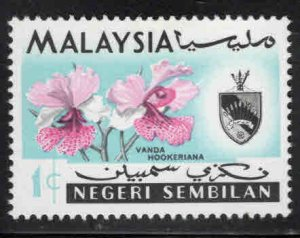 Malaysia -  Negri Sembilan Scott 76a MH* Orchid stamp sideways wmk