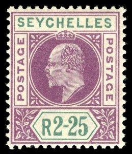 Seychelles 1903 KEVII 2r25c purple & green very fine mint. SG 56. Sc 48.