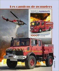 2021/05- DJIBOUTI - FIRE ENGINES          1V complet set    MNH ** T