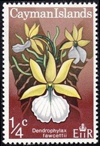 Cayman Islands # 287 mnh ~ 1/4¢ Wild Orchid