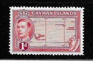 Cayman Islands Stamp- Scott # 102/A15- 1p- Mint/LH-1938-43-OG