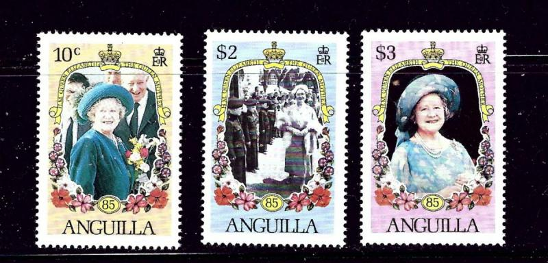 Anguilla 619-21 MNH 1985 Queen Mother Perf 14
