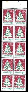 PCBstamps      US #2516a Bk Pane $2.50(10x25c)Christmas Tree, 11.5x11, MNH, (3)