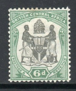British Central Africa 1897 6d black & green SG 46 mint