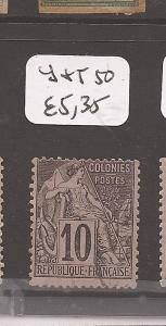 French Colonies Y&T 50 VFU (9cef)