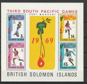 Solomon Islands MNH S/S 3rd South Pacific Games 1969