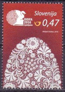 Slovenia. 2016. 1211. Lace. MNH.