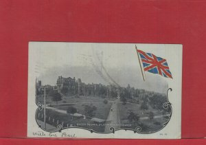 Lequille, N.S. split ring Edward 1906 Canada post card Queen Square St. JOhn N.B